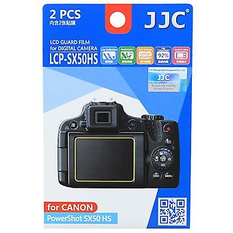 JJC vakt Film Crystal Clear Screen Protector for Canon PowerShot SX50 HS - ingen kutte (2 Film pakke)