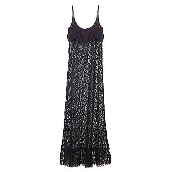 Les Jupons de Tess Kate Schwarz Spitze lange Kleid KAT6001