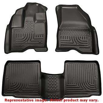 Sort Husky Liners # 98761 WeatherBeater Front & 2. havet passer: FORD 2011-2014