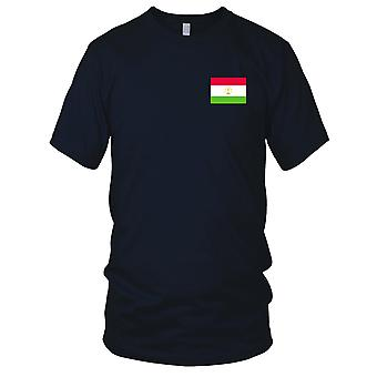Tajikistan Country National Flag - Embroidered Logo - 100% Cotton T-Shirt Mens T Shirt