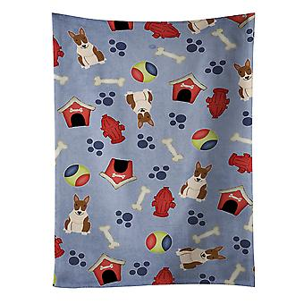 Dog House Collection Bull Terrier Brindle Kitchen Towel