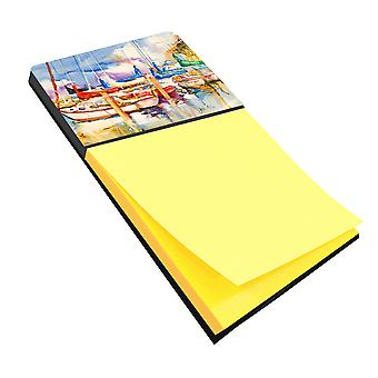 Carolines Treasures  JMK1072SN Run Away Sailboats Sticky Note Holder