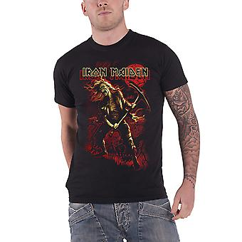 Iron Maiden T Shirt Benjamin Breeg Red Graphic band logo new Official Mens Black