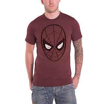 Spiderman T shirt Herre The Amazing Spiderman hoved officielle marvel comics rød