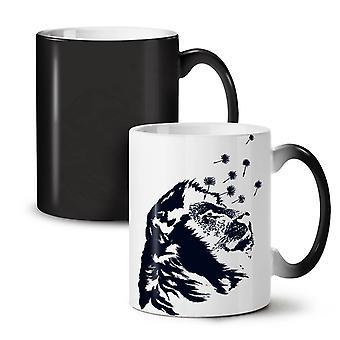 Beest dierlijke Leeuw rust nieuwe zwarte kleur veranderende thee koffie keramische mok 11 oz | Wellcoda