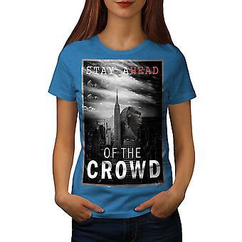 Mystic City USA Women Royal BlueT-shirt | Wellcoda