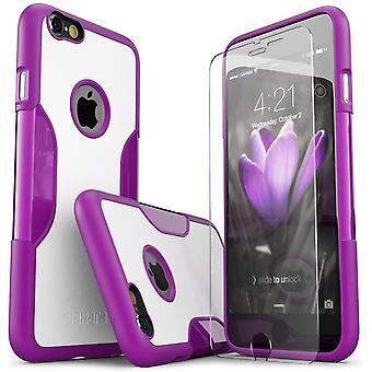 SaharaCase® iPhone 6/6s más azafrán púrpura caso, clásico paquete Kit de protección con vidrio templado de ZeroDamage®