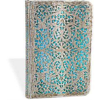Maya Blue Classic Mini Lined Journal by Lin.