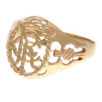 Rangers 9ct Gold Crest Ring Small
