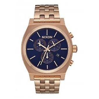 Nixon The Time Teller Chrono All Rose Gold / Navy Sunray (A9722398)
