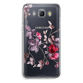 Samsung Galaxy J5 (2016) Transparent fodral - vackra blommor