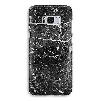 Samsung Galaxy S8 Full Print mål - svart marmor