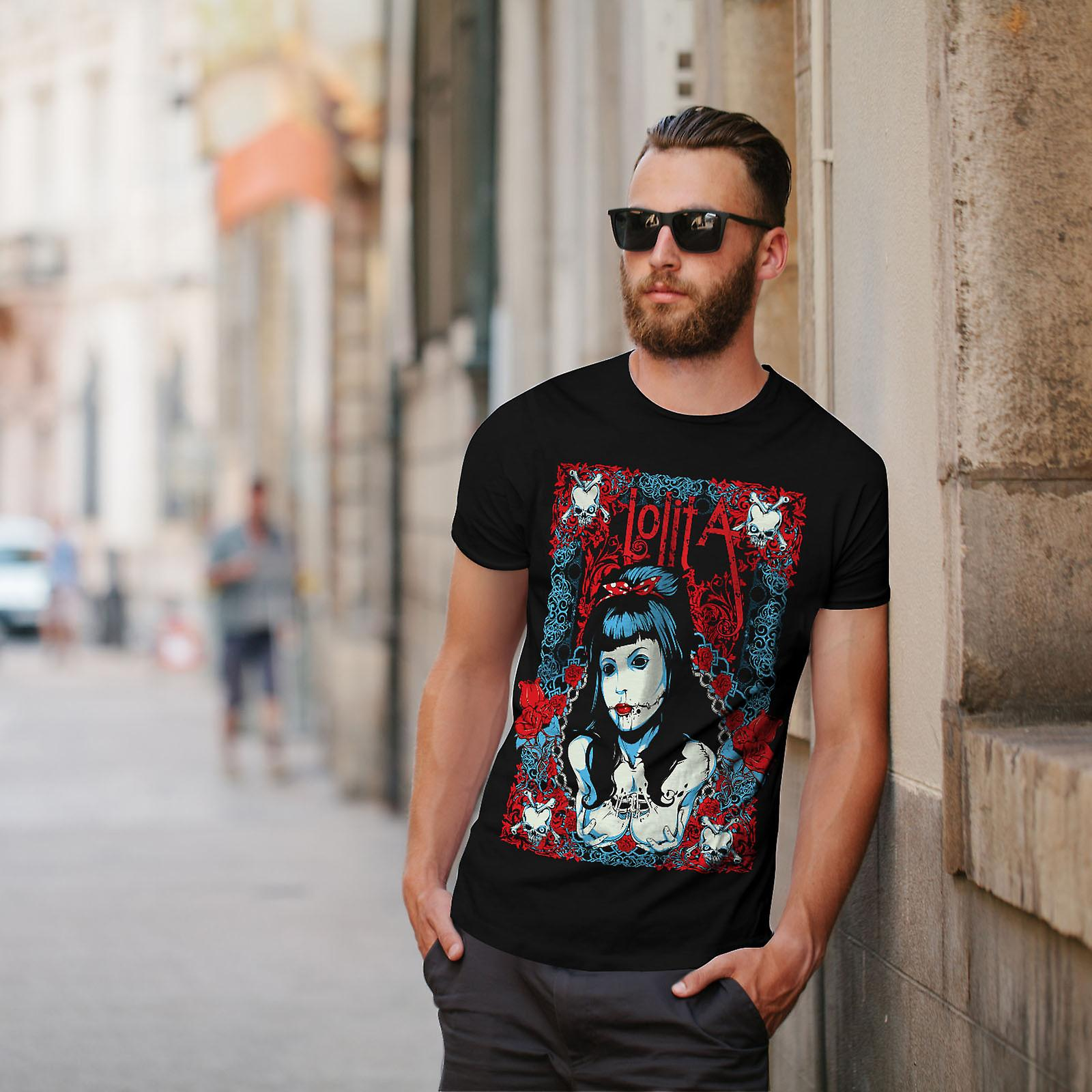 Lolita Sexy Dead Gangster Men Black T-shirt | Wellcoda