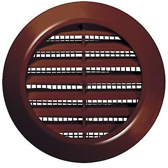 70mm Diameter White/Brown Round Door Air Vent Grille Woodwork Furniture Hole