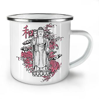 Japan Art Dragon Fantasy NEW WhiteTea Coffee Enamel Mug10 oz | Wellcoda