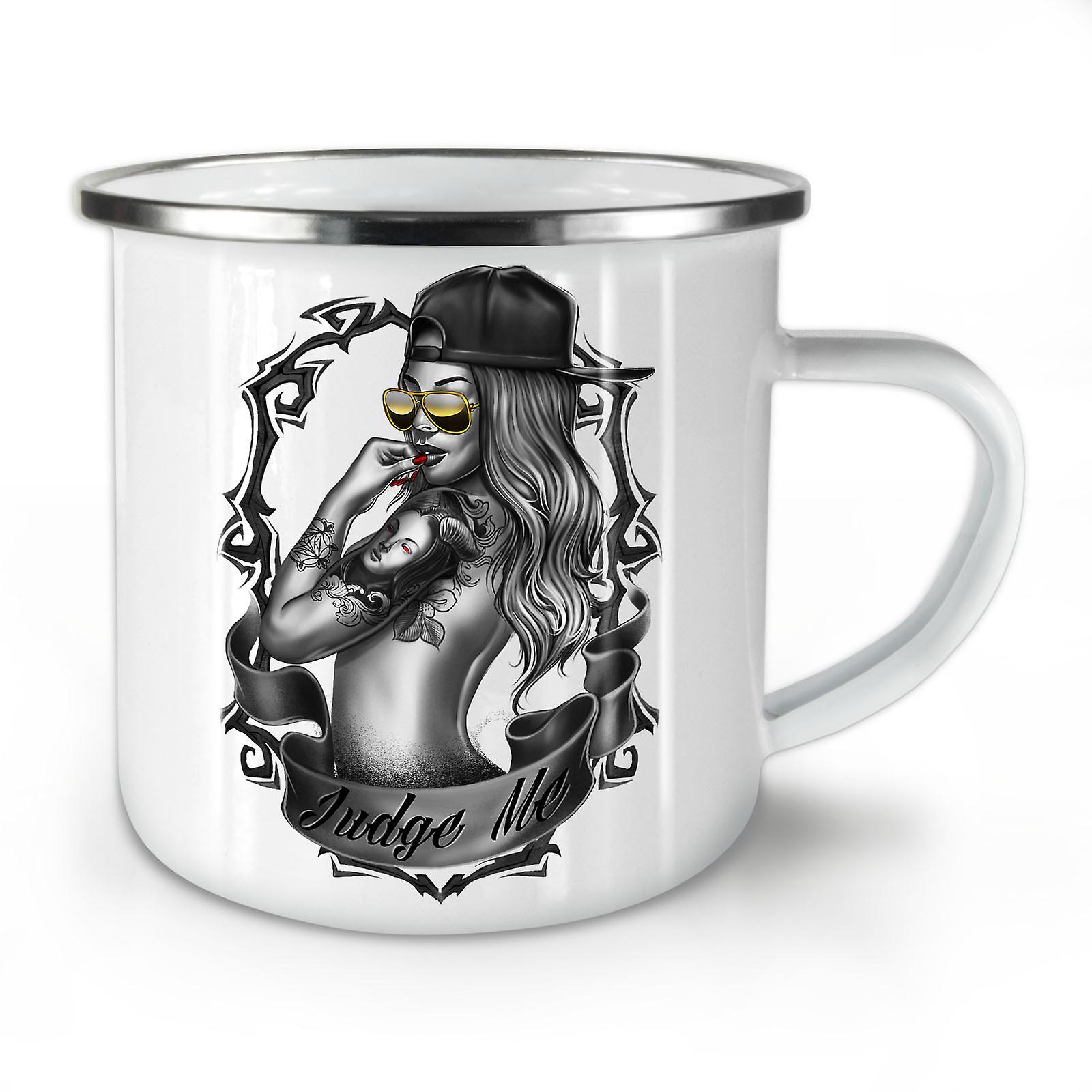 Hot Juge Me OzWellcoda Nouvelle Girl Mug10 Fashion Café Émail Whitetea If7mY6yvbg