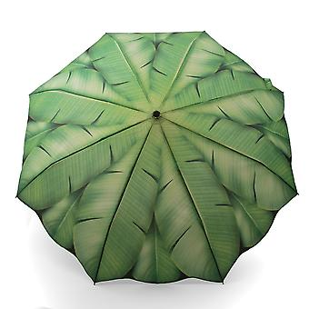 Umbrella green motif palm leaf