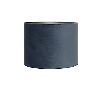 Light & Living Shade Cylinder 25-25-18 Cm VELOURS Dusty Blue