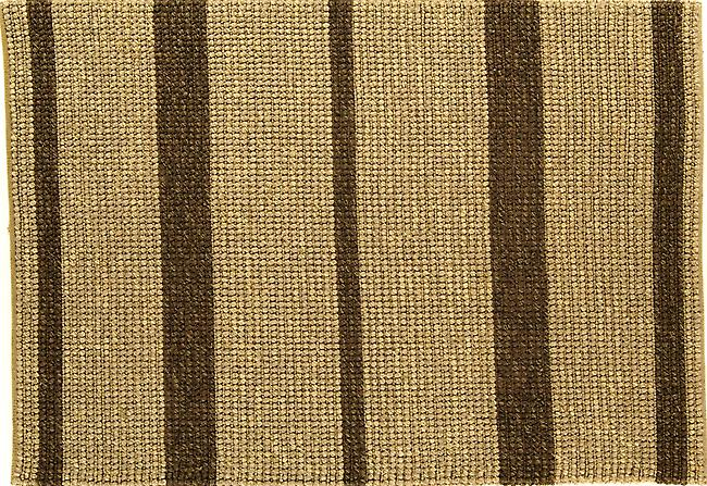 Jute Loop natural & brown Beige & brown horizonal stripes, 100% Jute, Indian Hand Woven Rectangle Rugs Plain/Nearly Plain Rugs