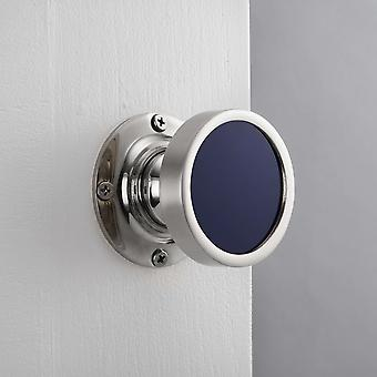 Contemporary Internal Royal Blue Mortice Door Knob