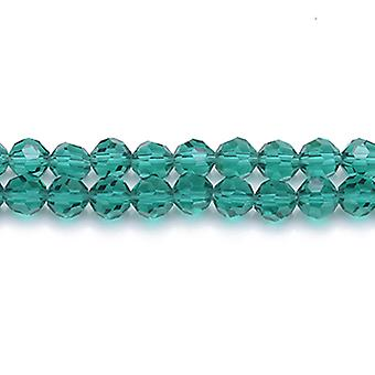 Strand 70+  Dark Green Czech Crystal Glass 6mm Faceted Round Beads GC3562-2