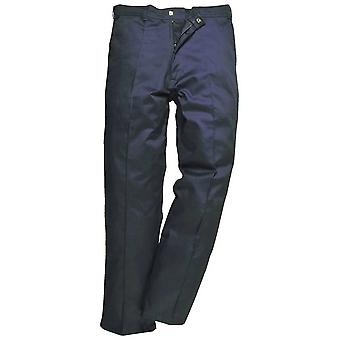Portwest Mens Preston Workwear Pant Trousers Black Navy