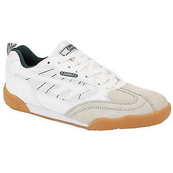 Hi-Tec Boys & Girls Squash Lace Up Leather Sports Trainer White