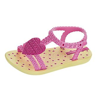 Baby My First Ipanema Heart Sandals Infant Girl Flip Flops - Pink and Lemon