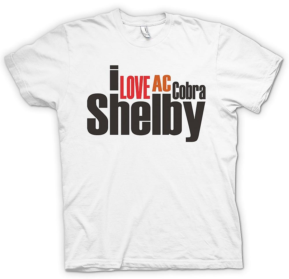 Mens T-shirt - I Love AC Cobra Shelby - Car Enthusiast