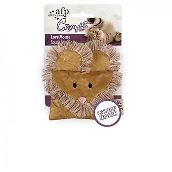 AFP Ratón Corazón Dorado Crumples (Cats , Toys , Plush & Feather Toys)