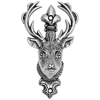 Hill Interiors Silver Deer/Stags Head Hanger