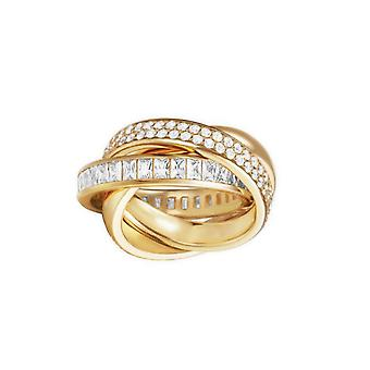 ESPRIT women's ring stainless steel gold Tridelia cubic zirconia ESRG02258B1