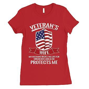Veteranen Frau Shirt Damen rot Graphic T-Shirt für 4. Juli Outfits