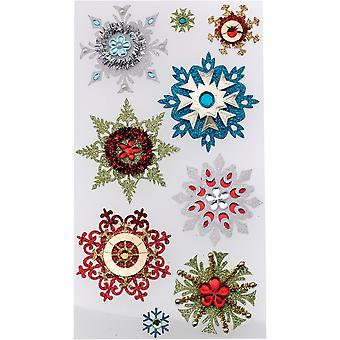 Jolee's Boutique Dimensional Stickers-Embellished Snowflakes