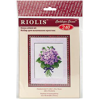 Violets Counted Cross Stitch Kit-5