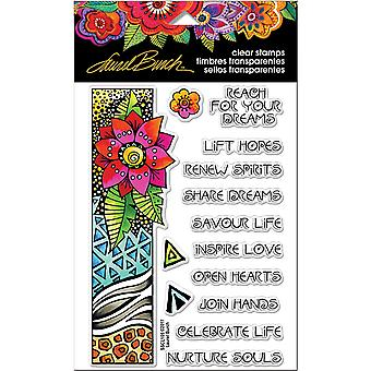 Stampendous Laurel Burch Clear Stamps 7.25