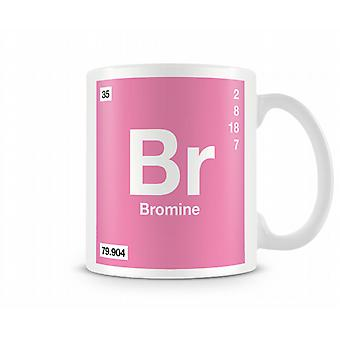 Element Symbol 035 Br - Bromine Printed Mug