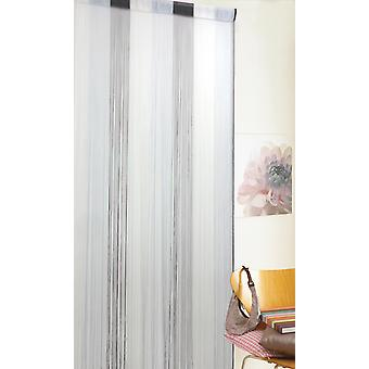 Country Club String Door Curtain, Ombre Grey