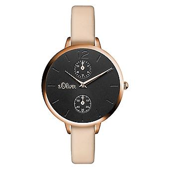 s.Oliver women's watch wristwatch leather SO-3535-LM