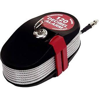 Lock Alarm 6796 kabel lock 2,4 m incl. gezonder zwart/zilver sleutel