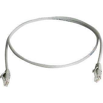 RJ45 Networks Cable CAT 6 U/UTP 7.5 m Grey Flame-retardant, Halogen-free Telegärtner