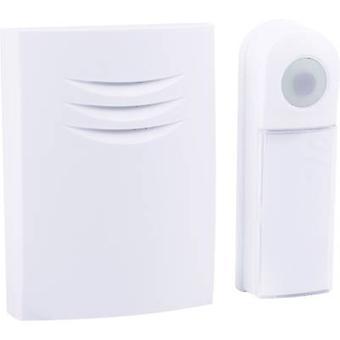 Byron B401E Wireless door bell Complete set backlit, incl. nameplate