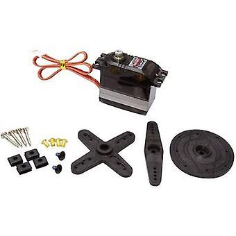 ブルーバード標準サーボ BMS 660 MG + HS アナログ サーボのギア ボックス材質: 金属コネクタ システム: JR