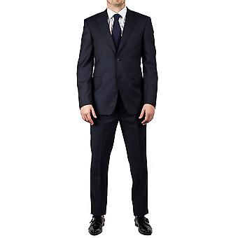 Luciano Barbera Club Men's Slim Fit Wool Two Button Suit Navy