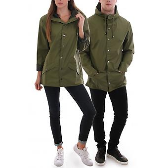 Rains Unisex Waterproof Jacket With Popper Fastening