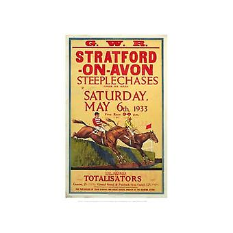 Stratford Steeplechases (Old Rail Ad) Mounted Print For Framing