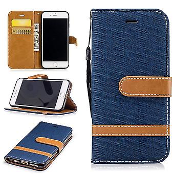 Case for Apple iPhone 8 Jeans cover cell protection cover case dark blue