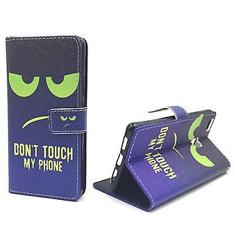 Dont Touch My Phone Handyhülle Huawei P9 Lite Panzer Schutz Glas Klapphülle Wallet Case