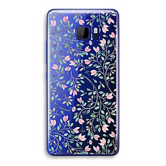 HTC U Ultra Transparent Case (Soft) - Dainty flowers