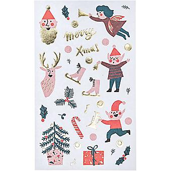 Christmas Stickers Jolly Classic Assorted x 80 Stickers Xmas Craft